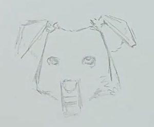Hund zeichnen Schritt 4