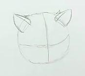 Katze malen & Katze zeichnen - Schritt 1