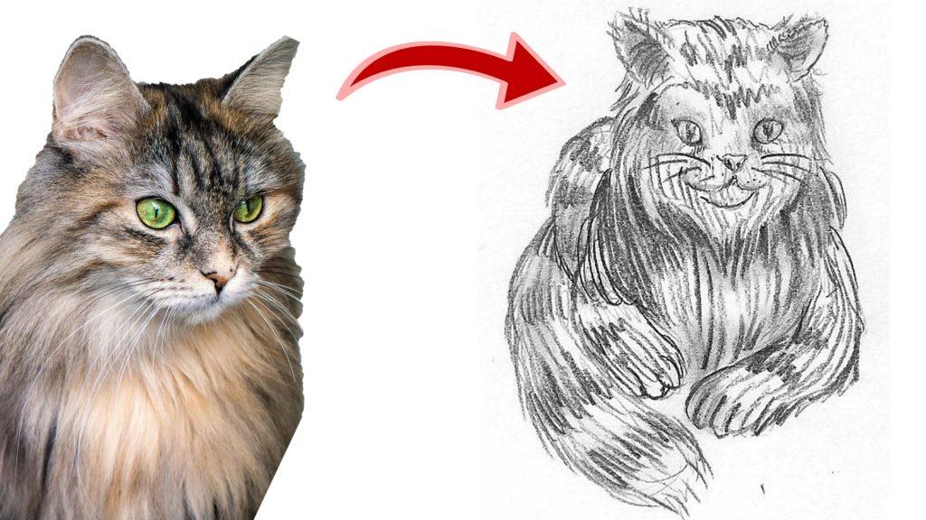 Katze malen & Katze zeichnen - Thumbnail