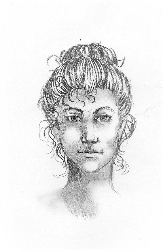 Gesicht zeichnen - Ergebnis des Schritt für Schritt Tutorials